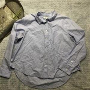 Madewell Cropped Button Down Shirt Size Medium